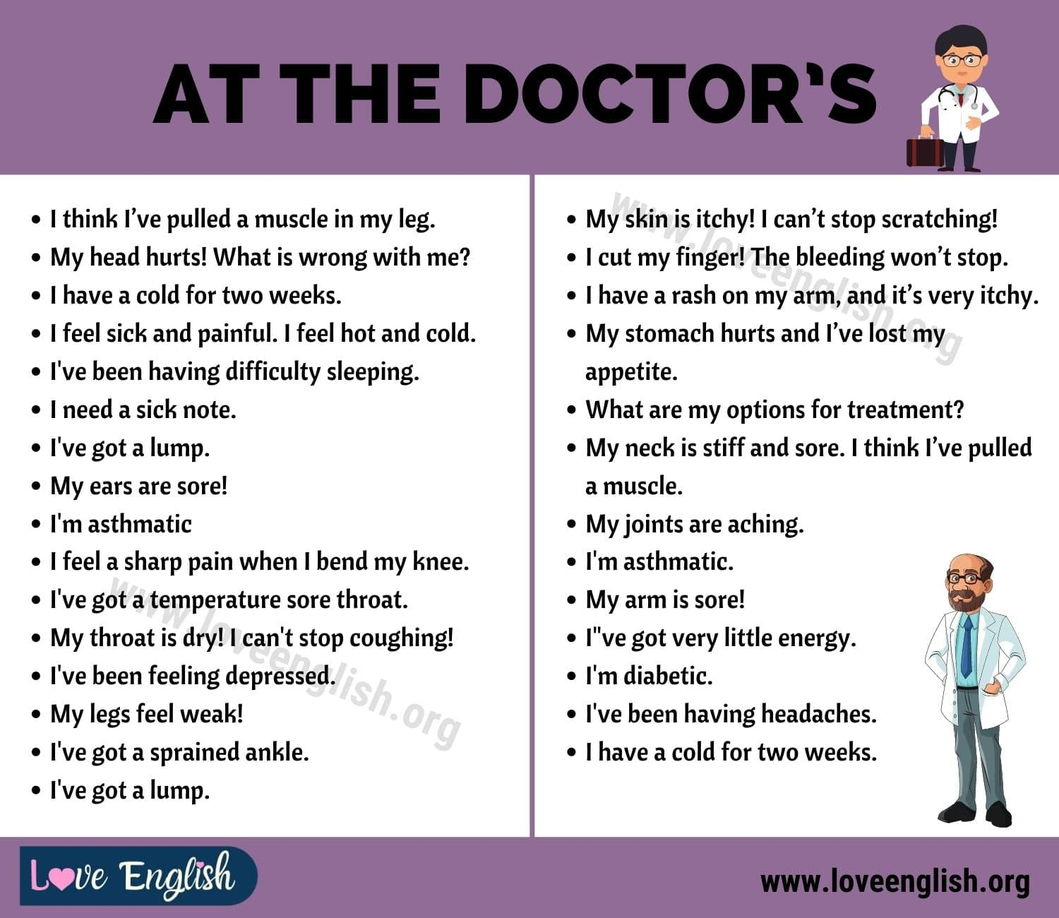 At the Doctor's