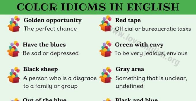 Color Idioms