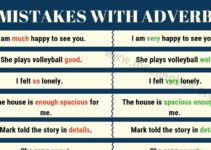 Mistakes with Adverbs