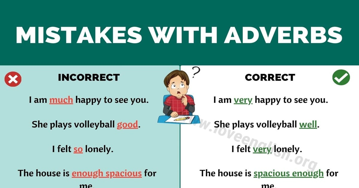 Common Mistakes with Adverbs