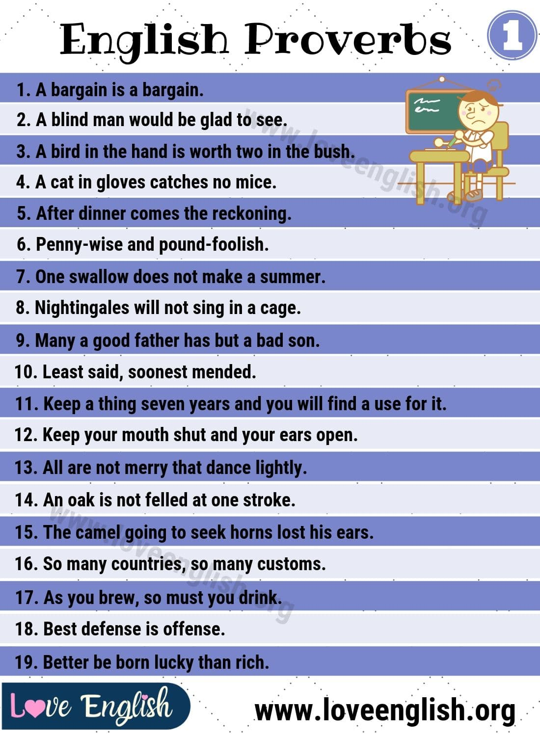 Proverbs 50 Useful And Important English Proverbs For Esl Students Love English