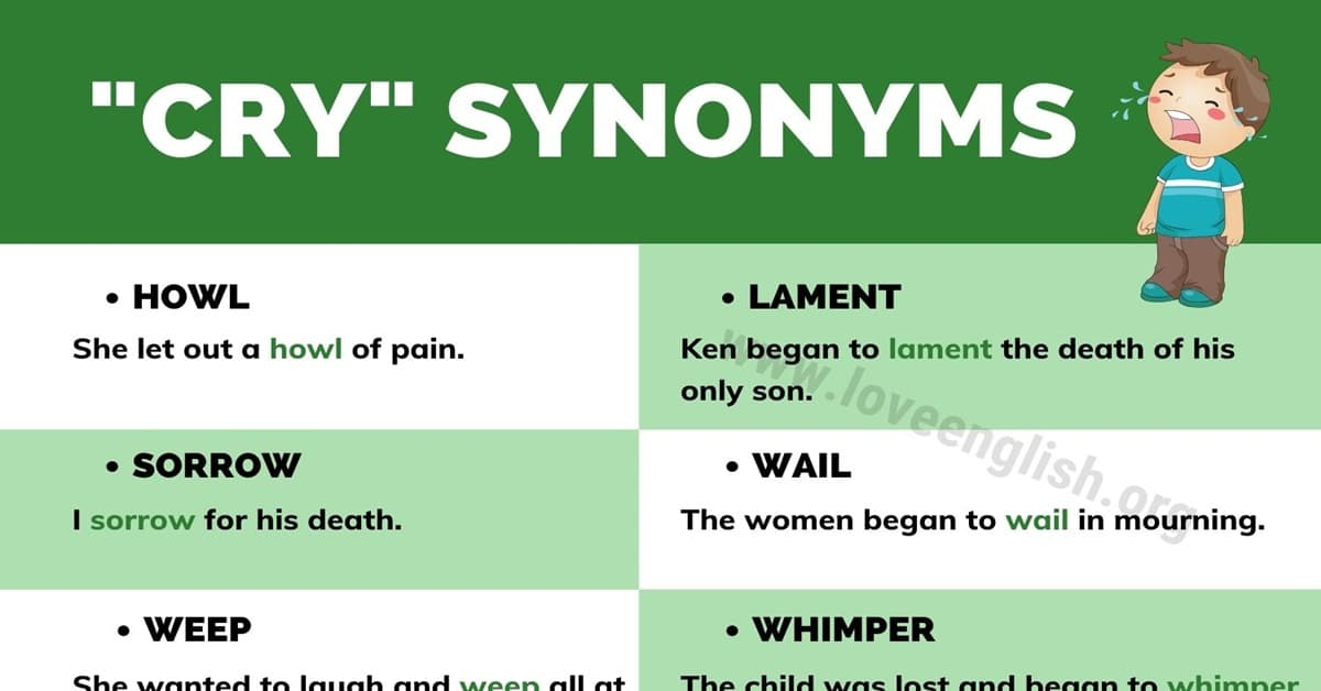 Cry Synonyms