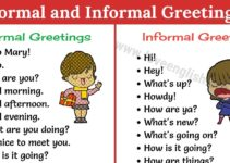 Formal and Informal Greetings