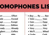 List of Homophones