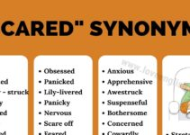 Scared Synonyms