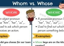 Whom vs Whose