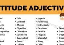 Adjectives of Attitude