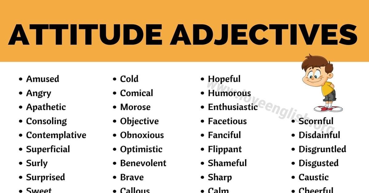 Adjectives of Attitude