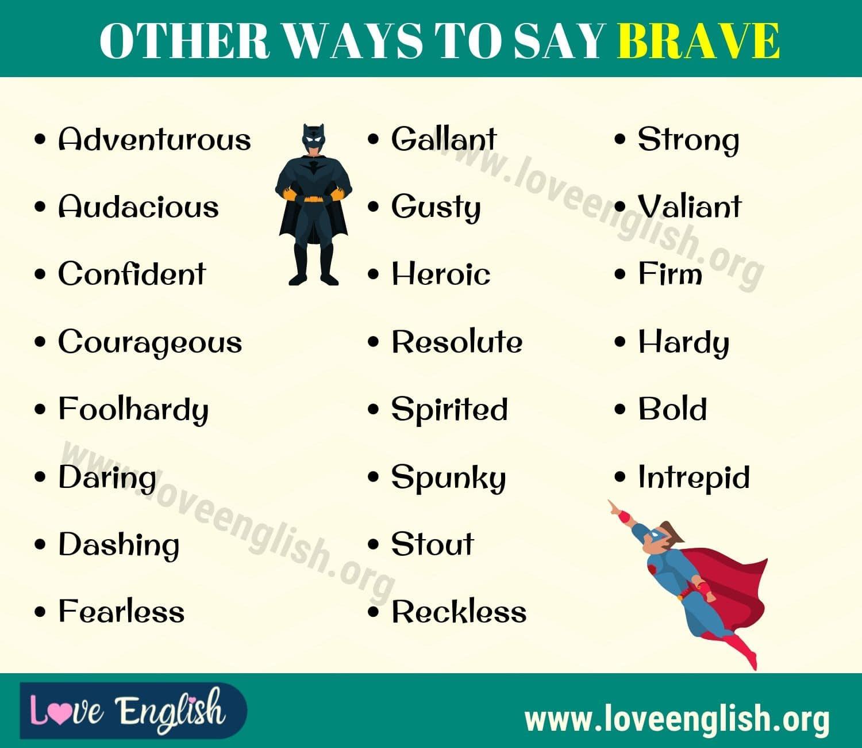 Brave Synonyms