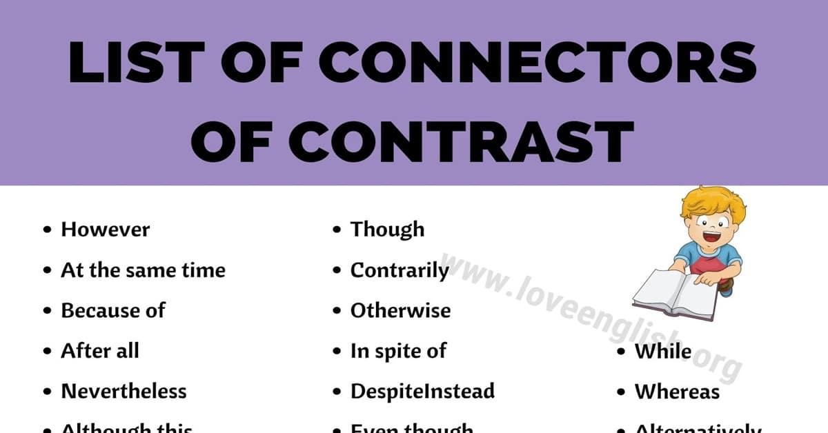 Connectors of Contrast