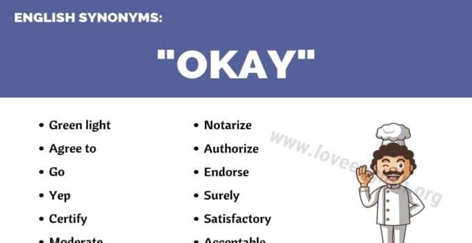 OKAY Synonyms
