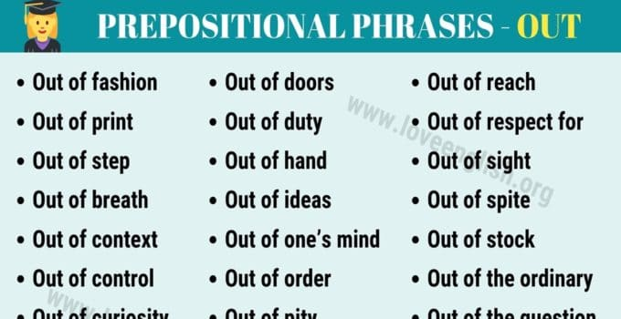 Prepositions - Love English