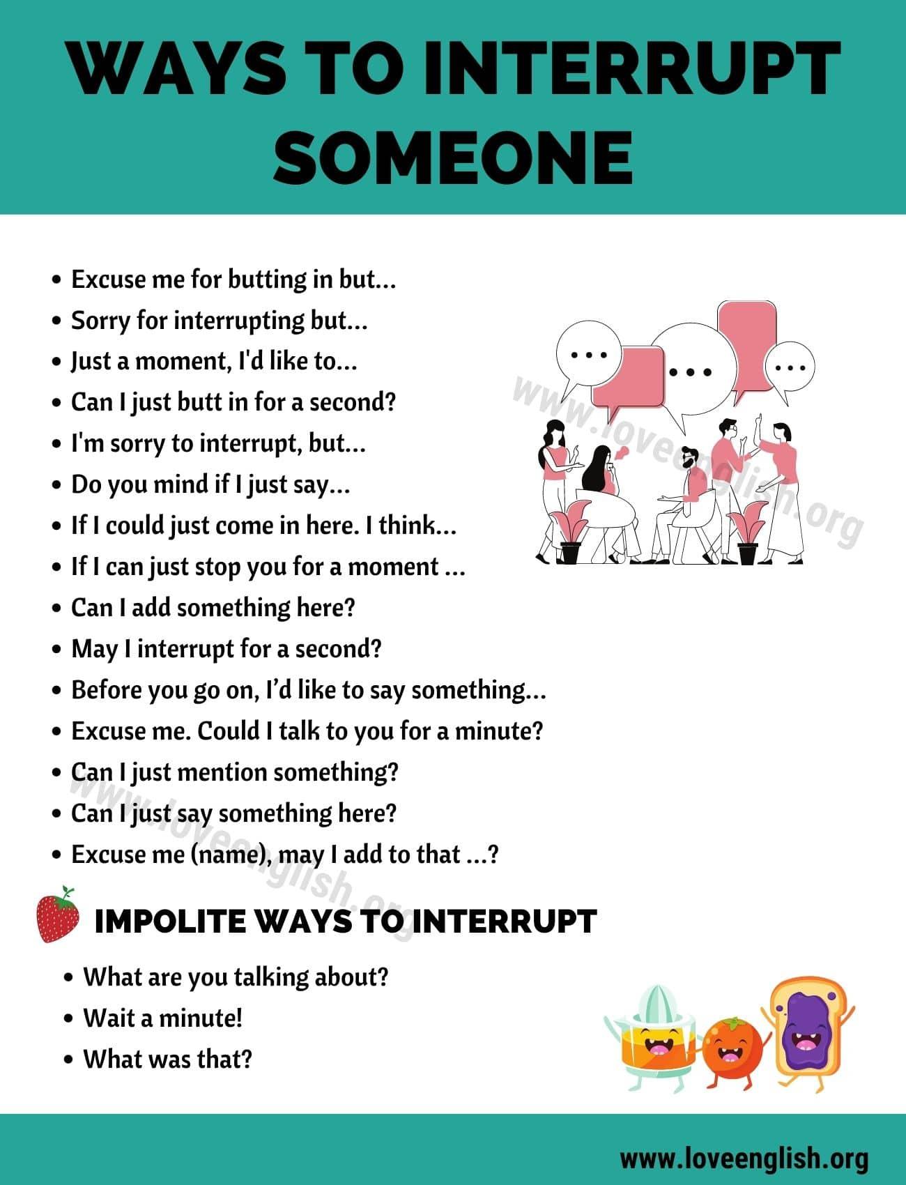 Ways to Interrupt Someone
