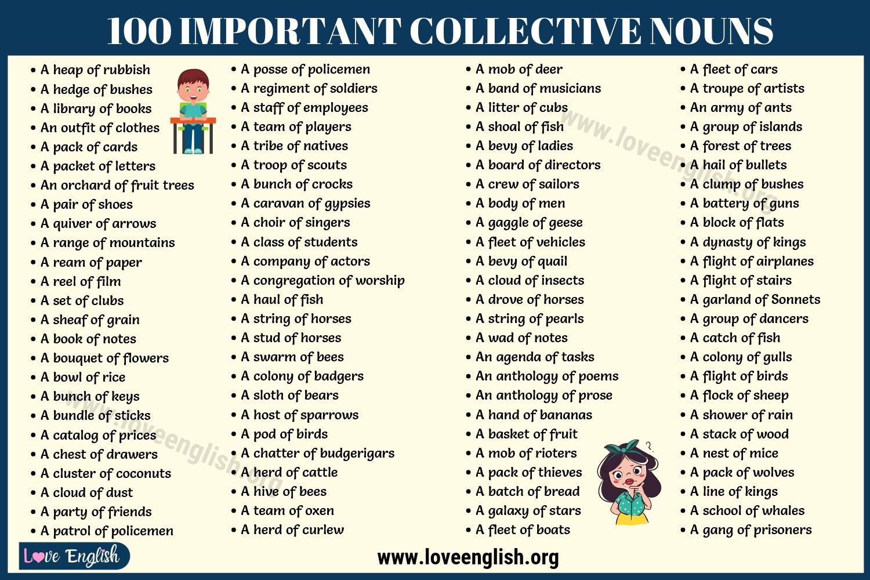 Collective Nouns List