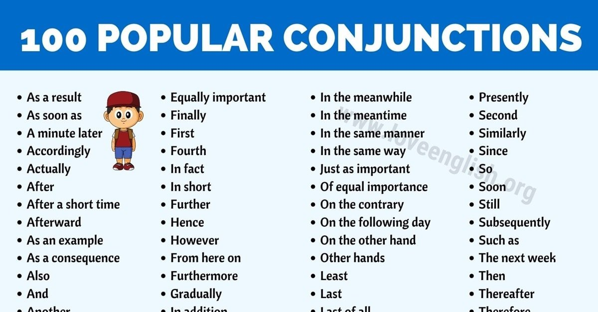 Conjunctions List