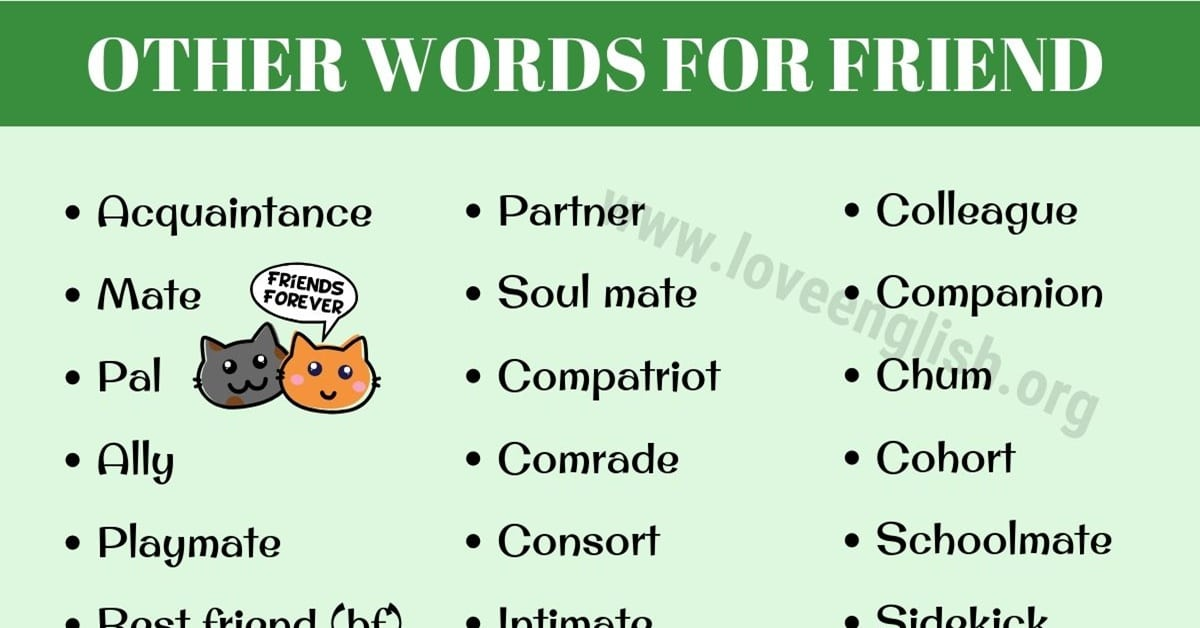 Synonyms for Friend