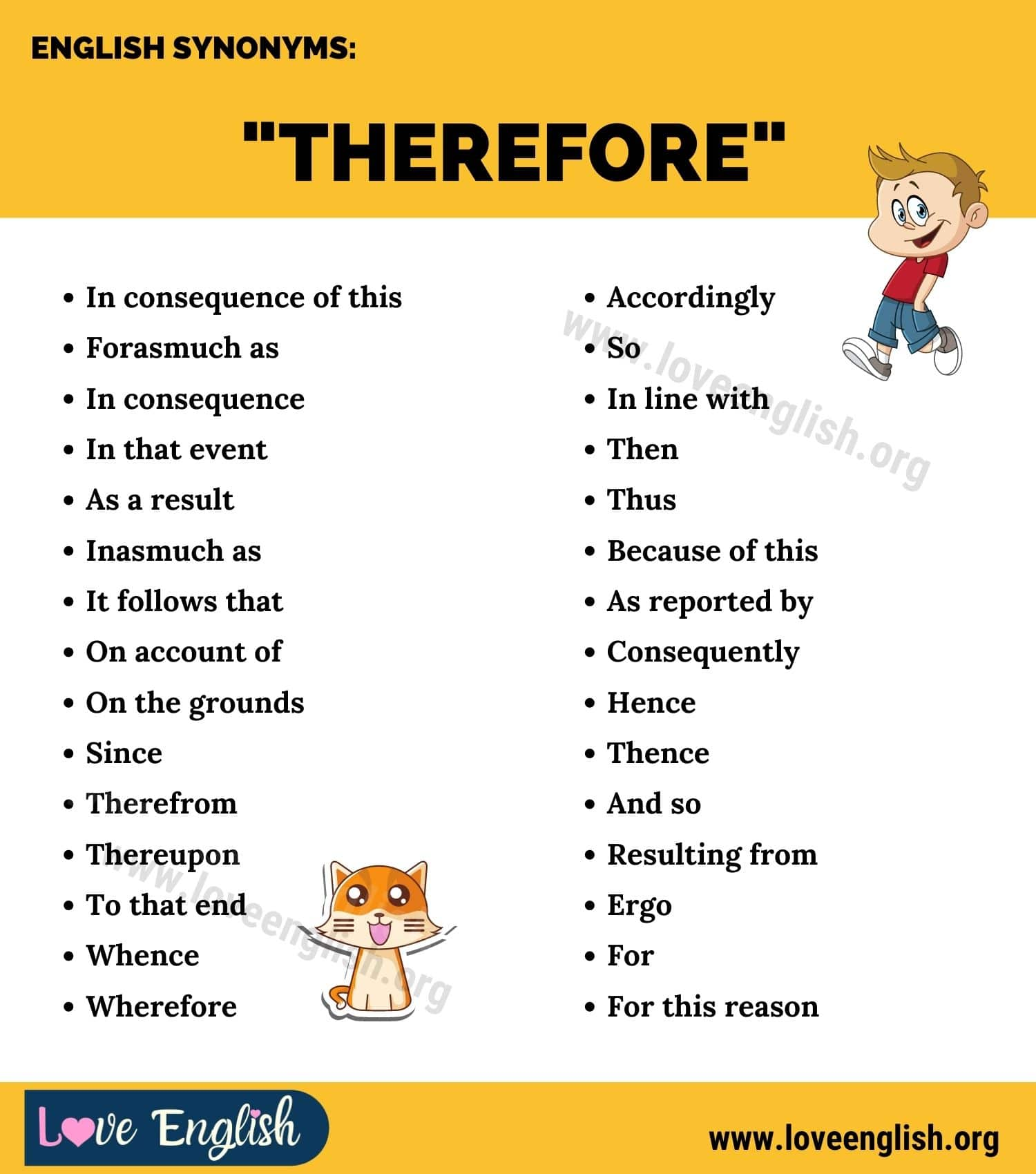 Therefore Synonyms