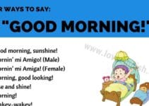 Ways to Say Good Morning!