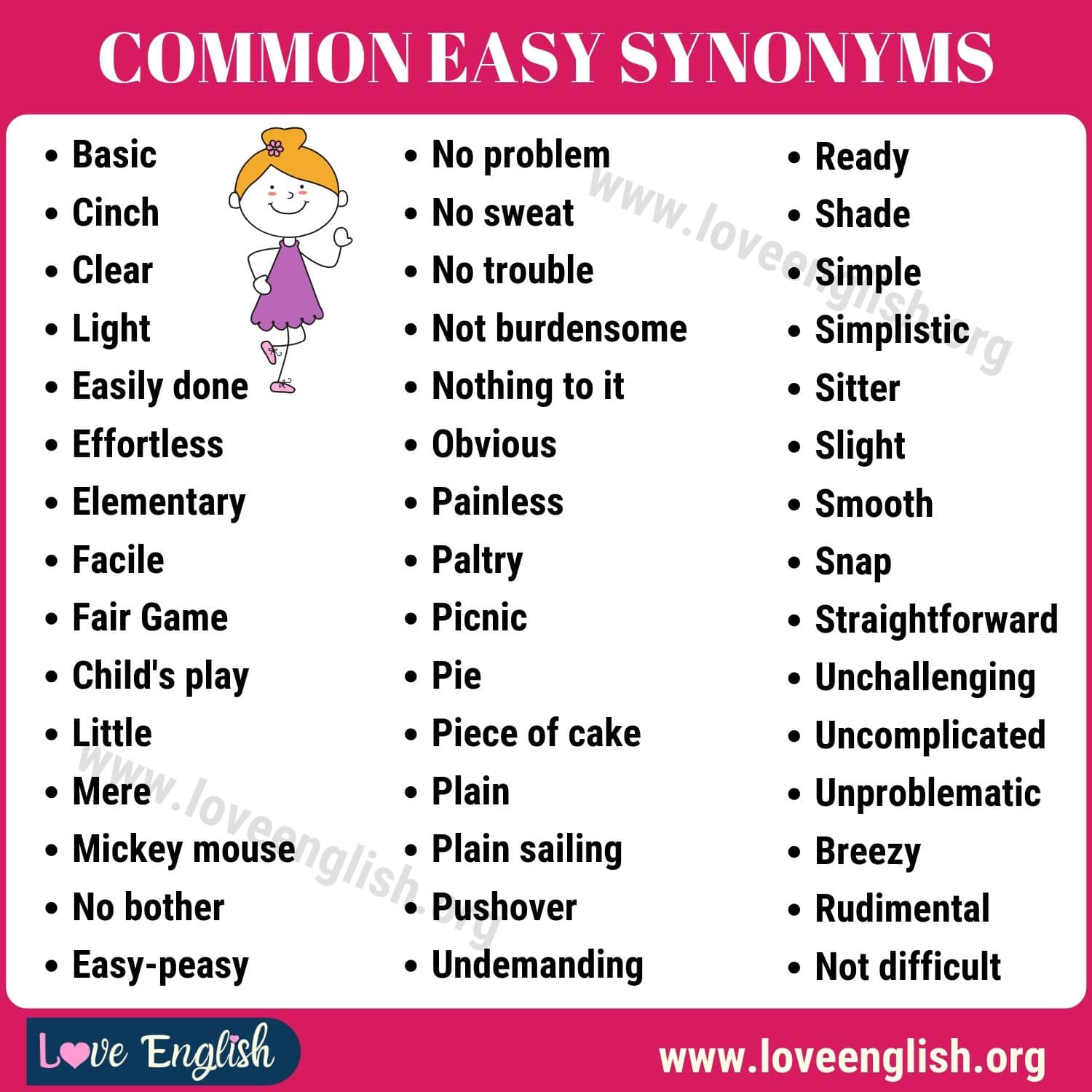 Easy Synonyms