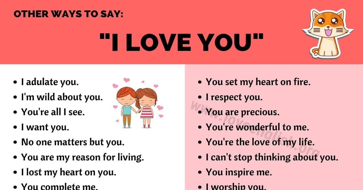 😎 how to say i love you without using those words