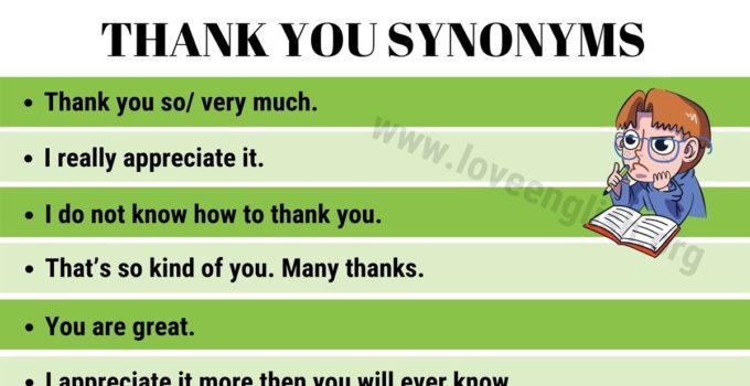 Thank You Synonyms