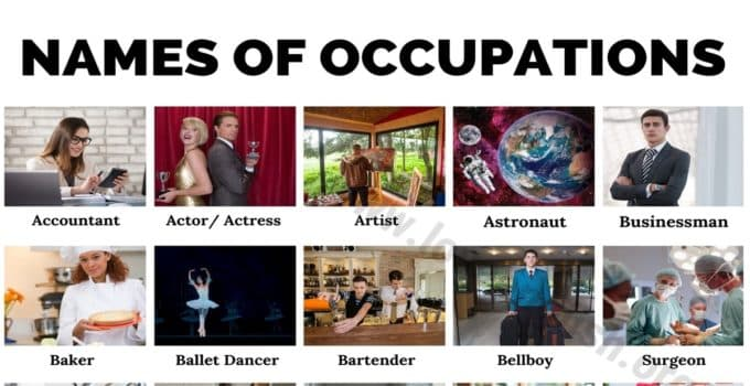 List of Occupations