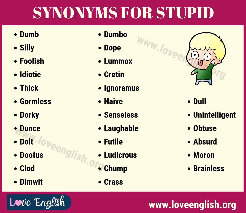 Stupid Synonyms
