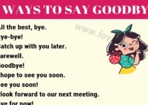 Ways to Say Goodbye
