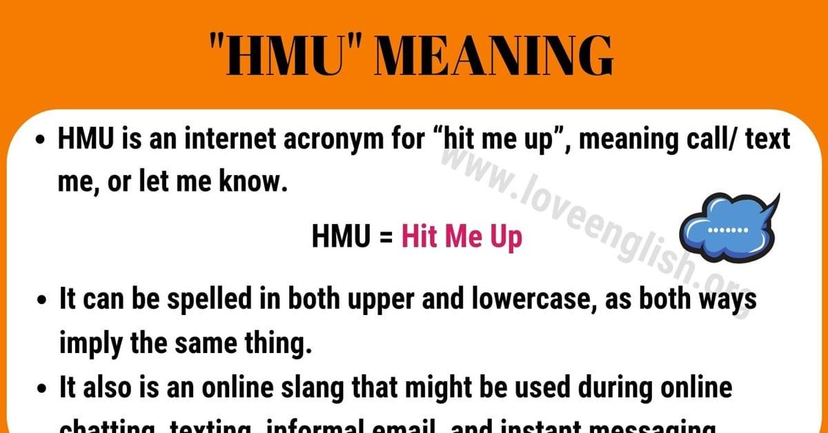 HMU Meaning