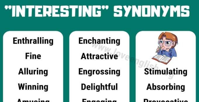 Interesting Synonyms