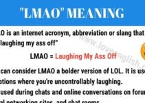 LMAO Meaning