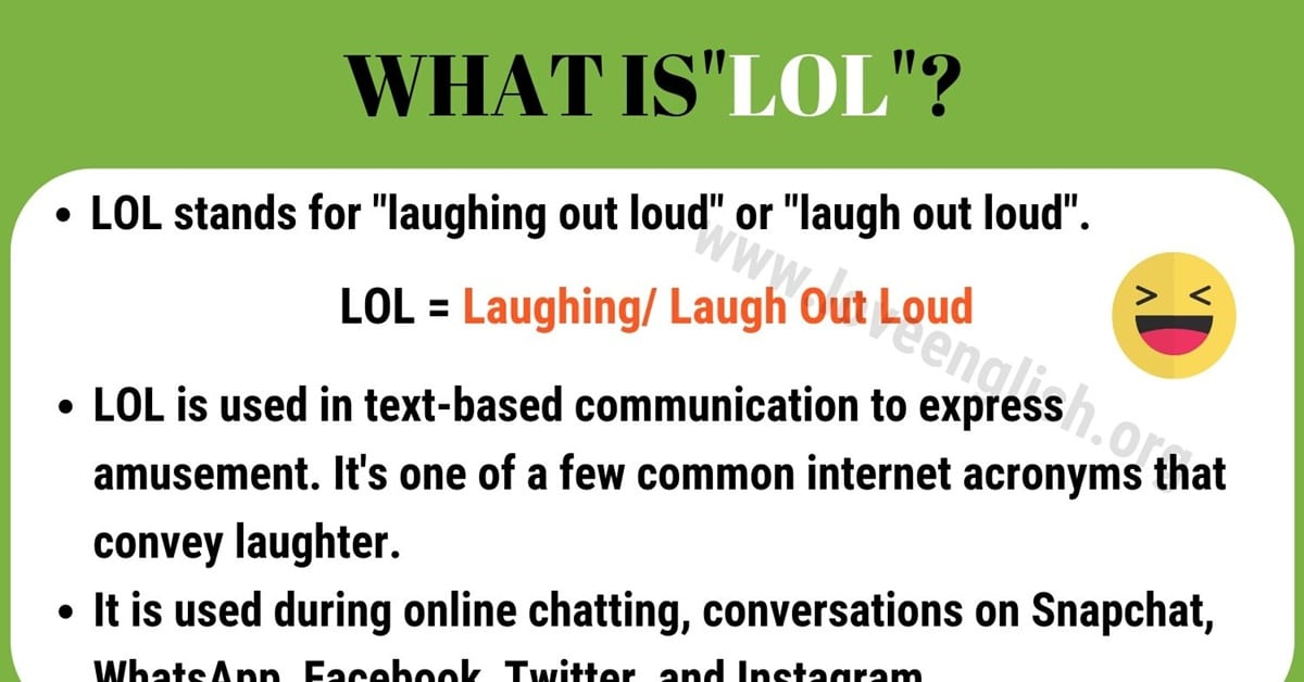 LOL Meaning
