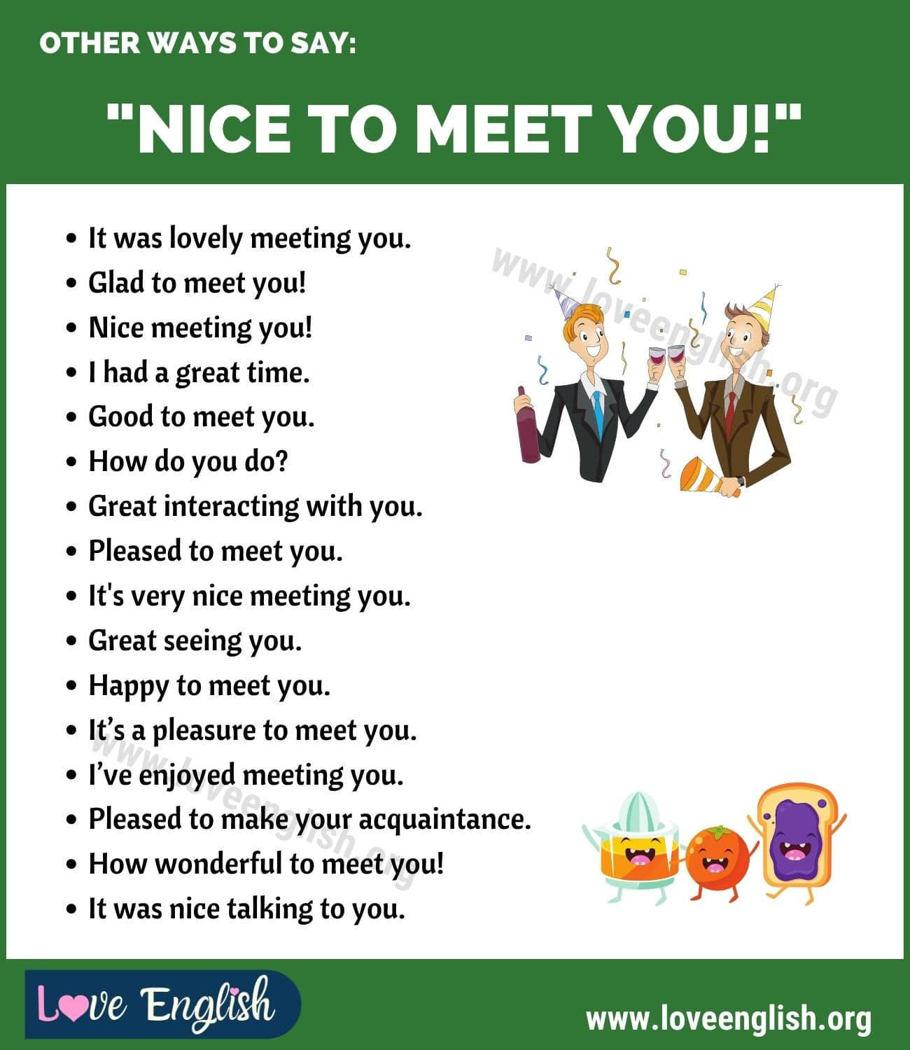 Ways to Say Nice to Meet You