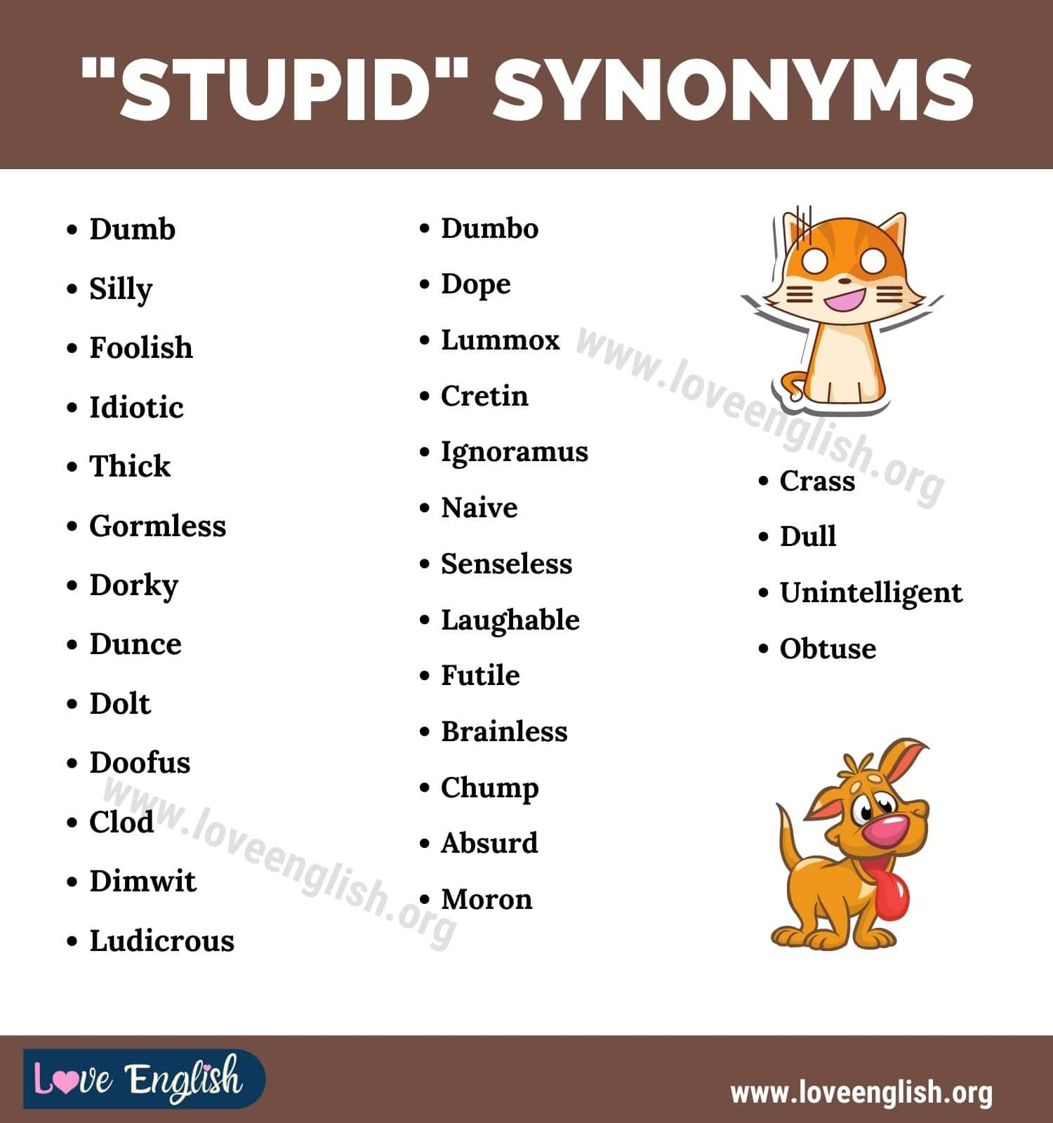 Stupid Synonyms