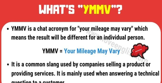 YMMV Meaning