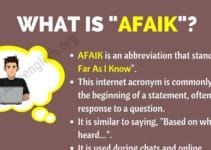 AFAIK Meaning
