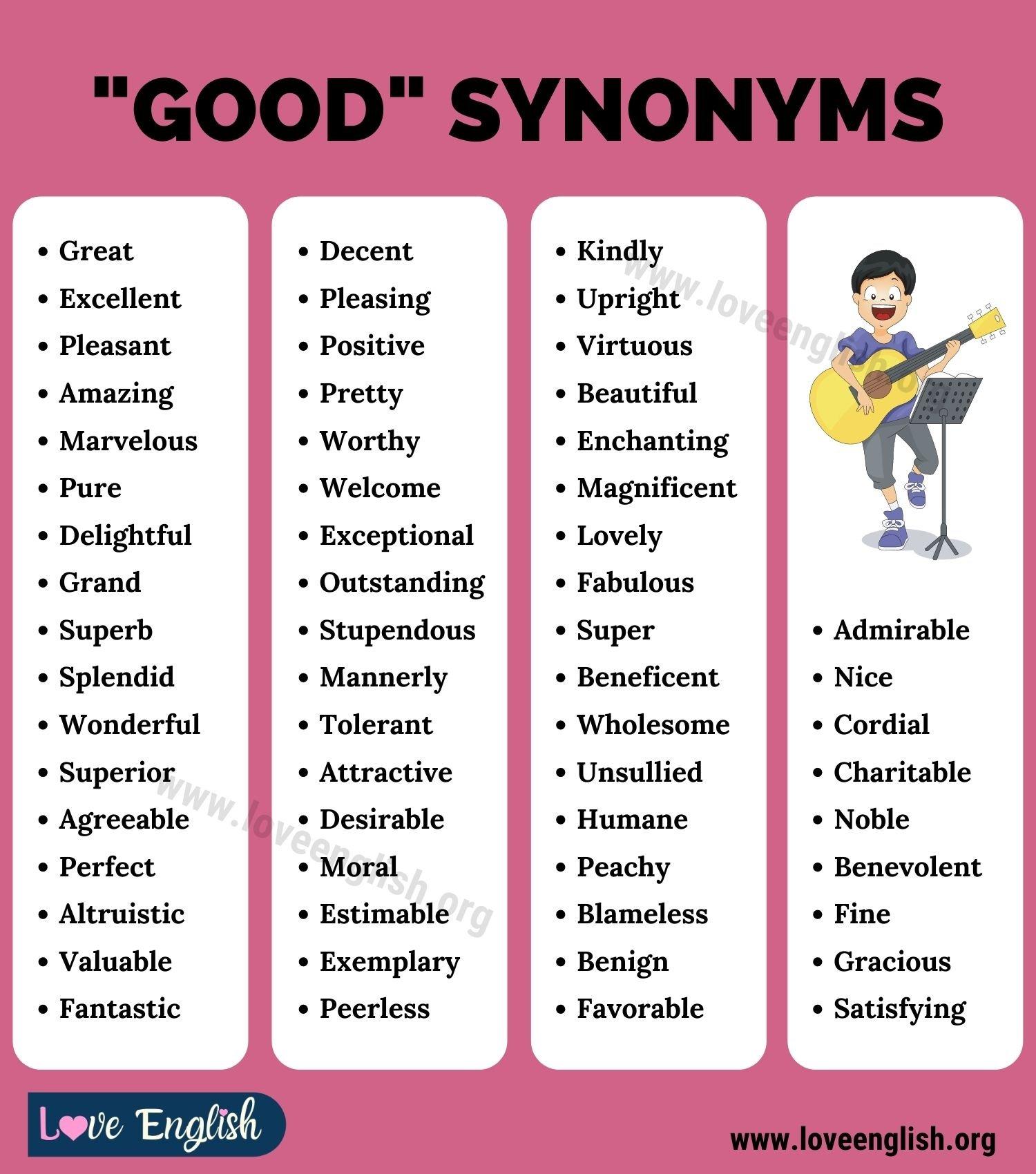 Good Synonyms