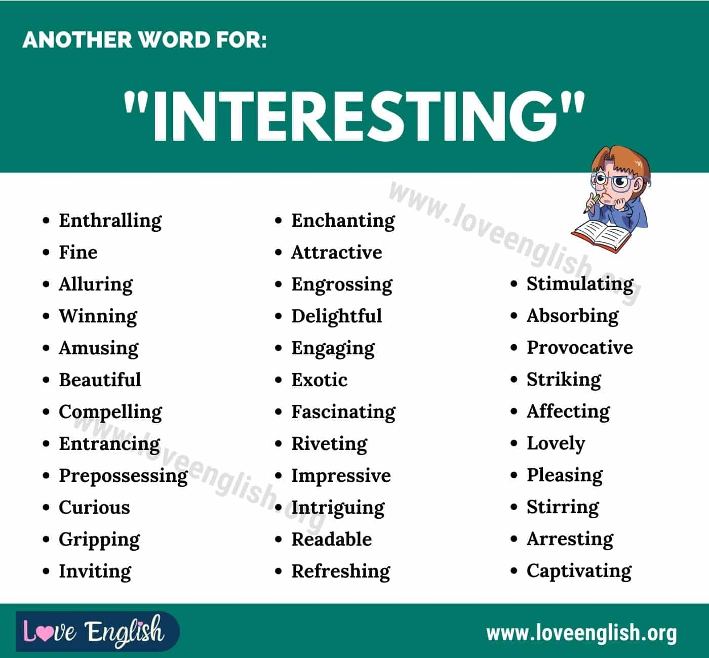 Another Word for Interesting
