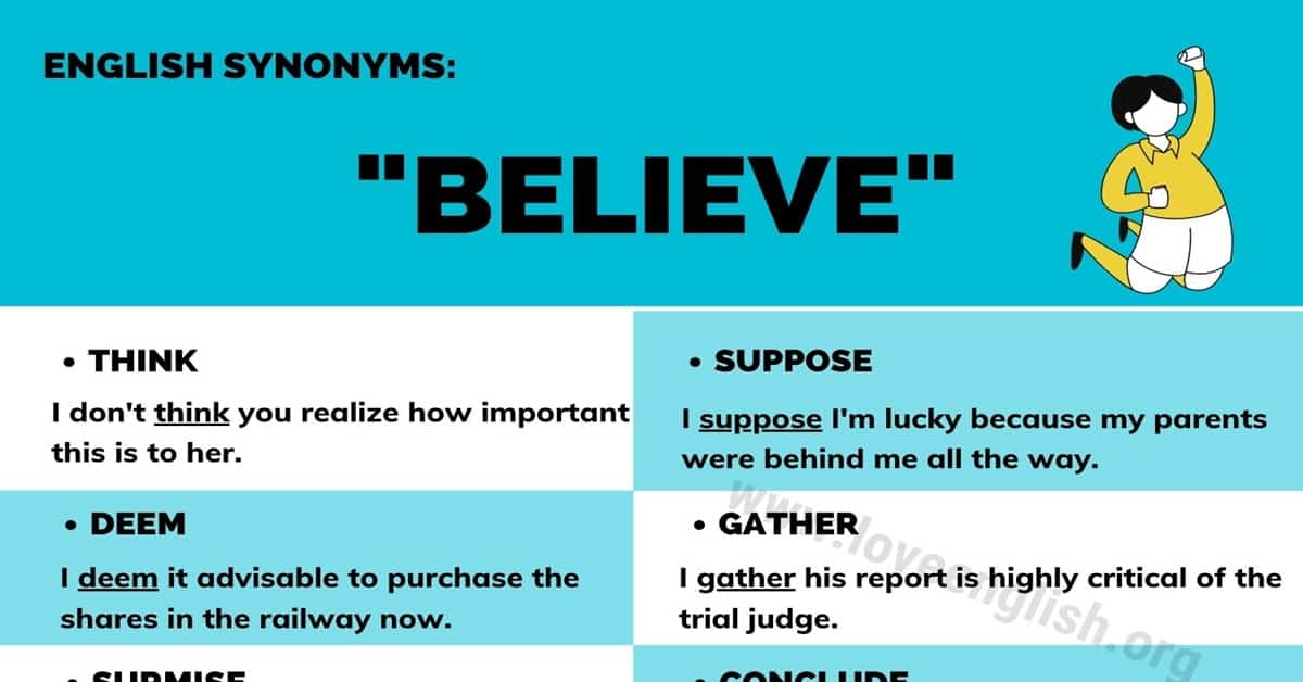 Believe Synonym