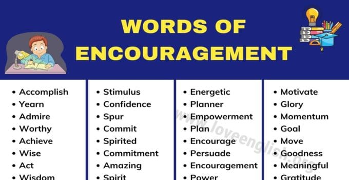 Words of Encouragement: 200 Best Motivational Words to Motivate You 1