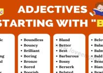 Adjectives that Start with B
