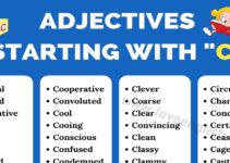 Adjectives that Start with C