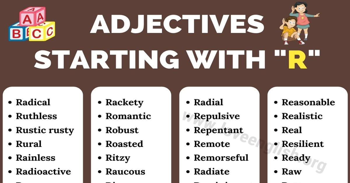 Adjectives that Start with R