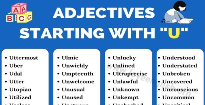 Adjectives that Start with U