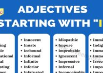 Adjectives that Start with I