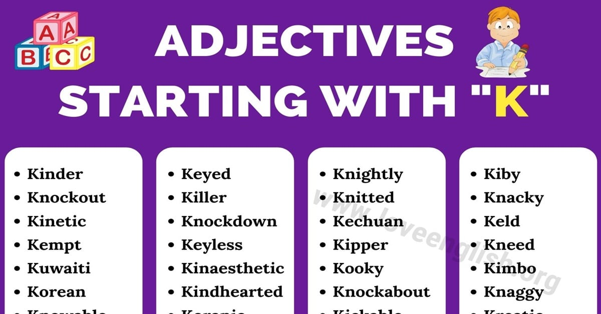 Adjectives that Start with K