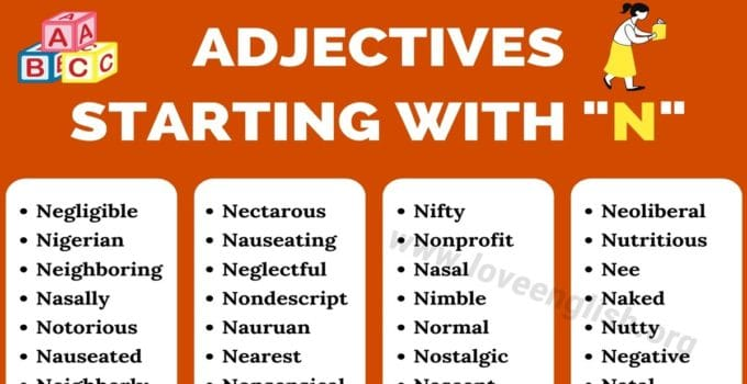 Adjectives that Start with N
