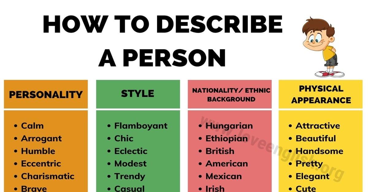 Adjectives to Describe a Person
