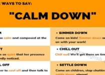"Ways to Say ""Calm Down"""