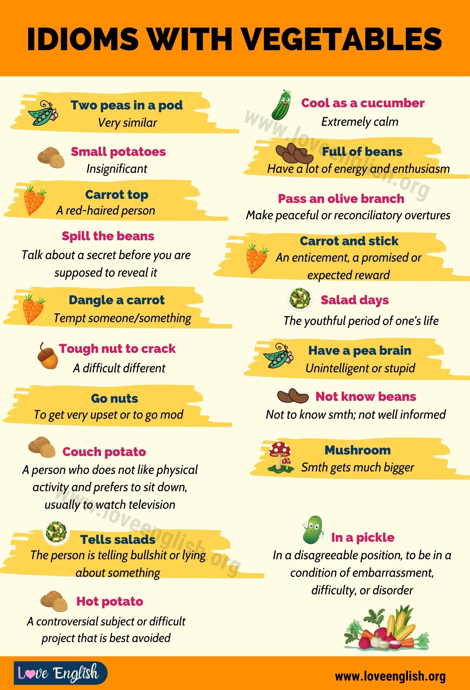 Idioms with Vegetables